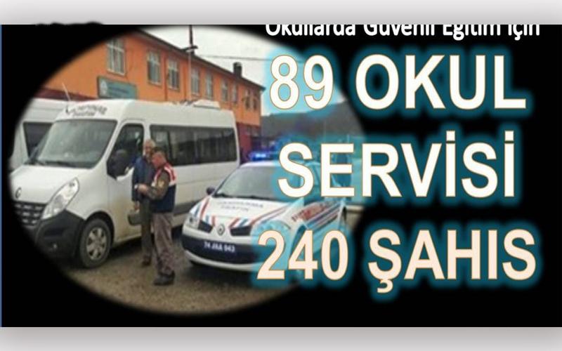 89 OKUL SERVİSİ, 240 ŞAHIS