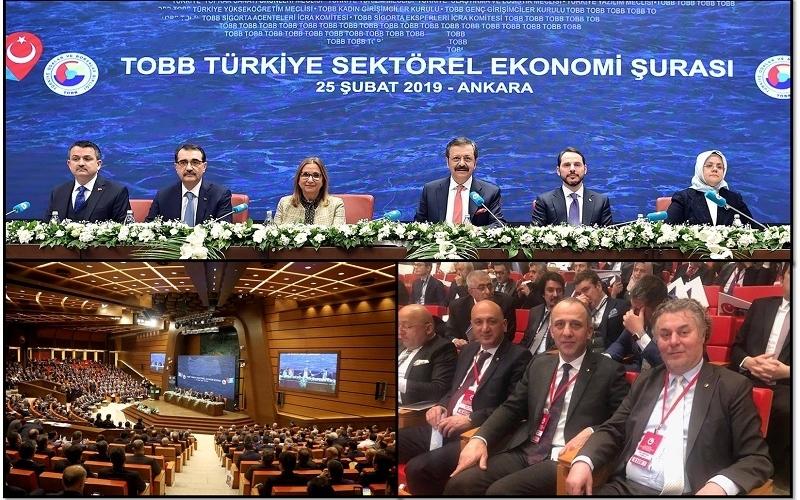 TSO Başkanı Halil Balık Türkiye Sektörel Ekonomi Şurasına katıldı