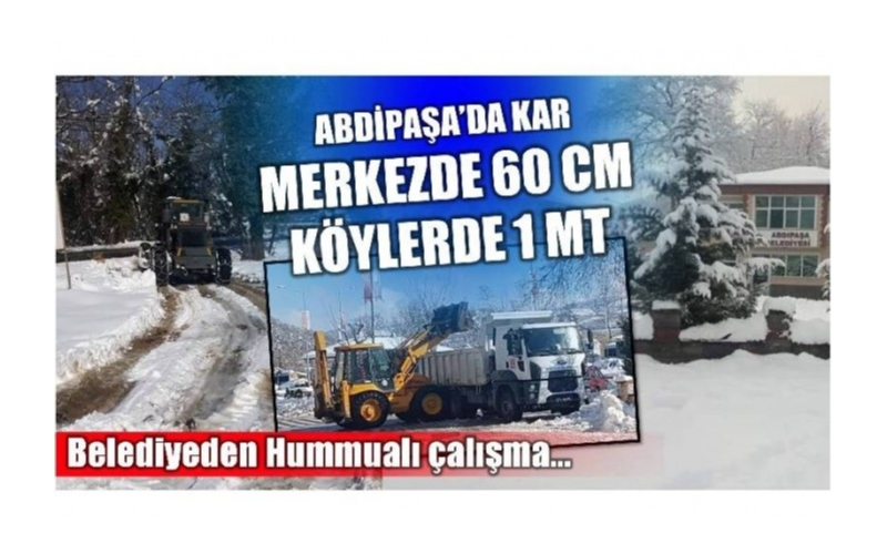 MERKEZE 60 CM KÖYLERİNE 1 MT KAR VAR