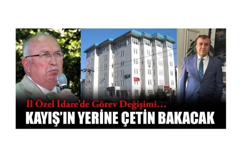 KAYIŞ VEDA ETTİ GÖREV ÇETİN'E DEVREDİLDİ