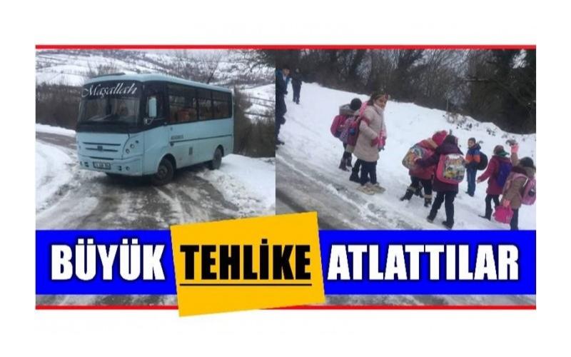 ÖĞRENCİLER BÜYÜK FACİA ATLATTI!