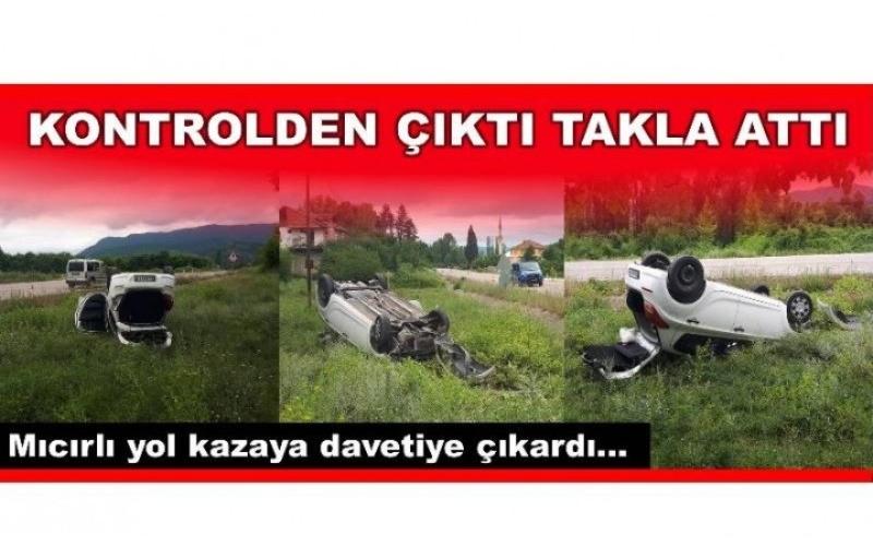 MICIRLI YOL KAZAYA DAVETİYE ÇIKARDI!