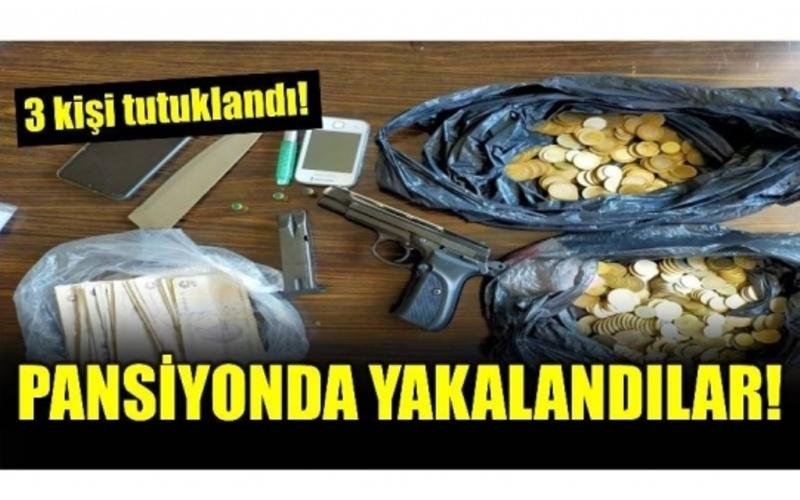 PANSİYONDA YAKALANDILAR TUTUKLANDILAR!