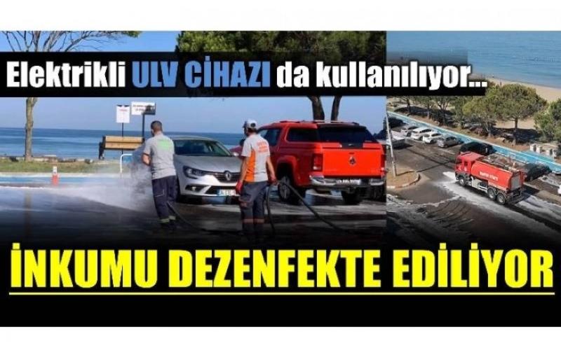 YOL VE KALDIRIMLAR DEZENFEKTE EDİLİYOR