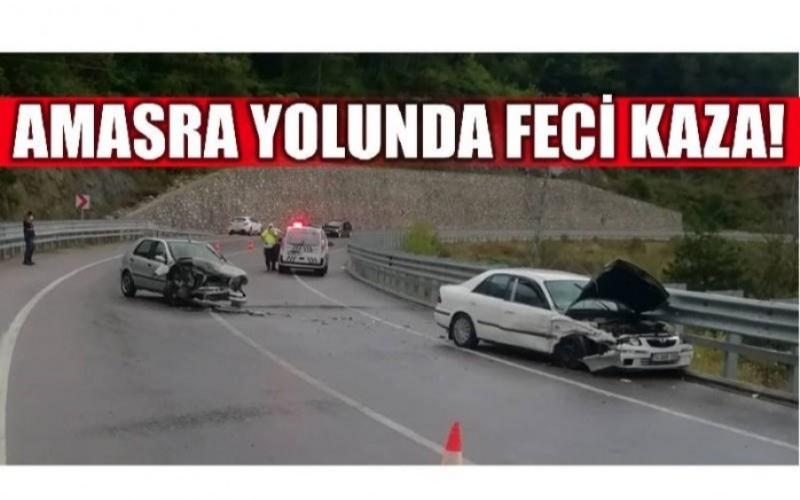 AMASRA YOLUNDA KAZA!