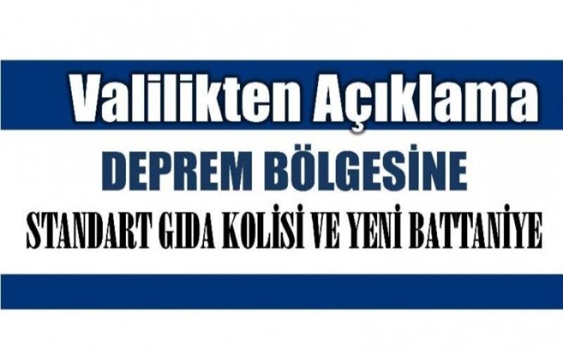 Bartın Valiliğinden İzmir için yardım duyurusu